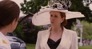 Aunt Alicia Winthrop-Scott (Catherine Tate) is the only one wise to Grace's ruse.