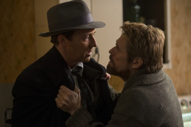 Disheveled genius Paul (Willem Dafoe) pleads with Lionel (Edward Norton) to do the right thing.