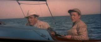 Father (Jimmy Stewart) and son (Michael Burns) get lost at sea during a foggy boat ride.
