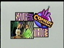 A 10 AM Saturday morning airing is advertised by Frank and Dr. Clayton Forrester in this 1990s Comedy Central MST3K promo.