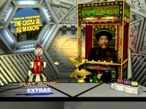 Fu Manchu is a mechanical fortune teller on his DVD's main menu screen.