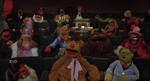 "Assorted Muppets are in attendance for Kermit's screening of ""The Muppet Movie."""