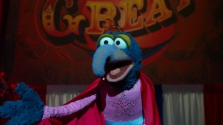 As promised, weirdo performance artist Gonzo the Great makes us laugh like we did then as the Muppets try to save their storied theater.