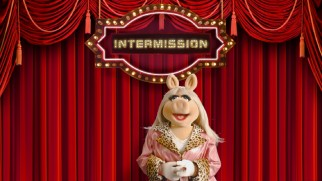 "Miss Piggy turns up to enhance your paused film playback via ""Disney Intermission."""