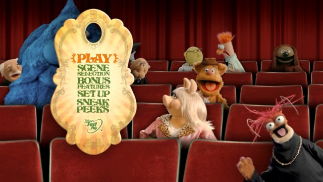 The Muppets ensure the DVD main menu (and Blu-ray equivalent) is anything but dull.