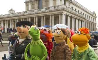 """Muppets Most Wanted"" puts the gang (well, much of it) on world tour, taking them to various European locations."