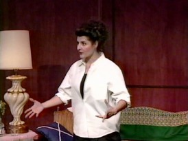 Before the movie, Nia Vardalos performed her life as a one-woman stage show in the 1990s, clips of which appear in the new retrospective.