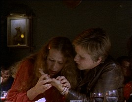 "A young woman inspects a young man's palm in Lasse Hallstr�m's directorial debut, the 1973 Swedish TV movie ""Shall We Go to My or Your Place or Each Go Home Alone?"""