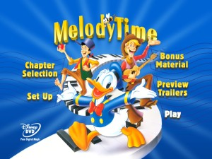 Melody Time DVD Main Menu
