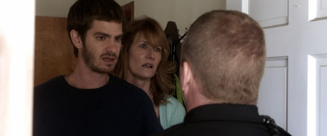 "In ""99 Homes"", Dennis Nash (Andrew Garfield) and his mother (Laura Dern) are evicted from the house they have long called home."