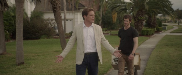 "Rick Carver (Michael Shannon) explains strategic defaults to Dennis Nash (Andrew Garfield) in this deleted scene, the only real video bonus feature to speak of on the ""99 Homes"" Blu-ray."
