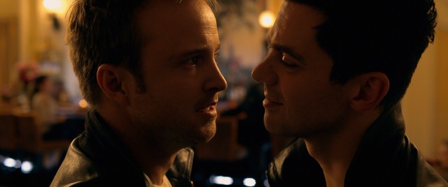 The rivalry of racers Tobey Marshall (Aaron Paul) and Dino Brewster (Dominic Cooper) is fraught with tension.