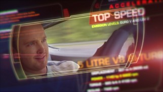 The Need for Speed Blu-ray menu plays clips among an assortment of dashboard graphics.