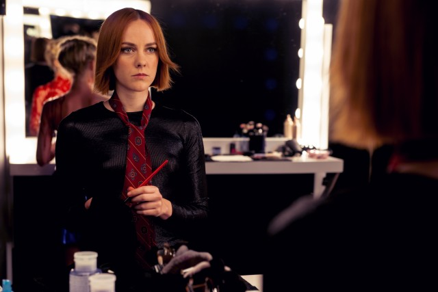 Make-up artist Ruby (Jena Malone) seems like the one peer looking out for Jesse's well-being.