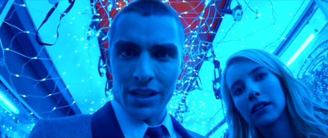 "In ""Nerve"", Ian (Dave Franco) and Vee (Emma Roberts) are players in a 24-hour game of dares."