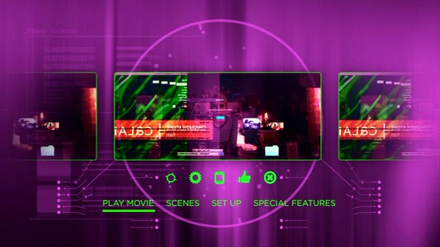 Nerve sports suitably colorful main menu on Blu-ray and DVD.