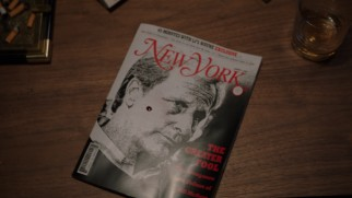 A drop of blood on the New York Magazine's hatchet piece on Will McAvoy provides a clue in a short-lived season finale mystery.
