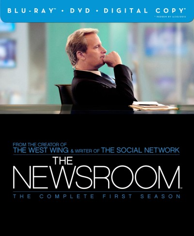 The Newsroom: The Complete First Season Blu-ray + DVD + Digital Copy combo pack box cover art -- click to buy from Amazon.com