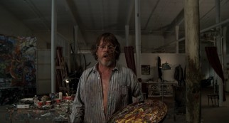 "Jealousy and liquor fuel Lionel Dobie's (Nick Nolte) passionate abstract art in ""Life Lessons."""
