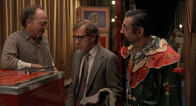 Sheldon (Woody Allen) wonders where his mother has gone, a mystery neither the theater owner (Larry David) nor Shandu the Great (George Schindler) himself can answer.