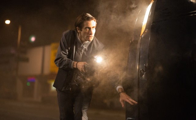 """Nightcrawler"" stars Jake Gyllenhaal as Lou Bloom, a man who videotapes local crime scenes."
