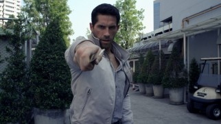 Casey Bowman (Scott Adkins) more than holds his own in a Japanese alley fight.