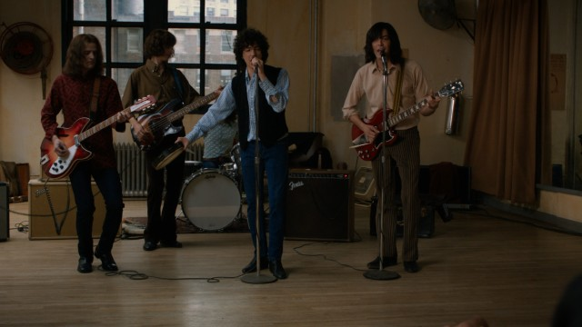 The unnamed band at the center of the film gets their big audition in front of an important music agent.