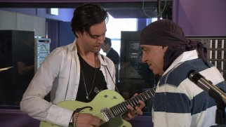 "Little Steven Van Zandt earns his music consultant credit by teaching ""The Boys in the Band"" how to play."
