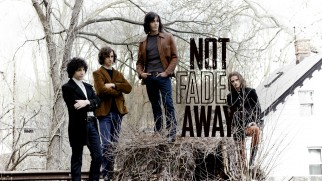 "The band strikes an album cover-ready pose on the ""Not Fade Away"" Blu-ray's menu."