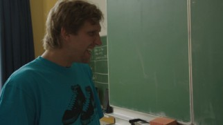 Dirk Nowitzki visits the classroom where he used to get in trouble in this deleted scene.
