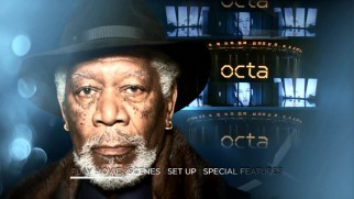 The great Morgan Freeman gets his time to shine on the creative Now You See Me 2 main menu.
