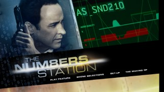 John Cusack doesn't know how he feels about those audio quality and distortion levels on The Numbers Station's Blu-ray menu.