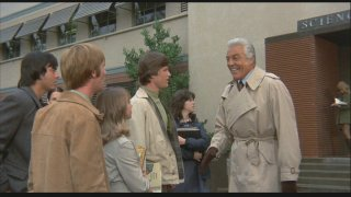 Cesar Romero returns as A.J. Arno, to the surprise of the students