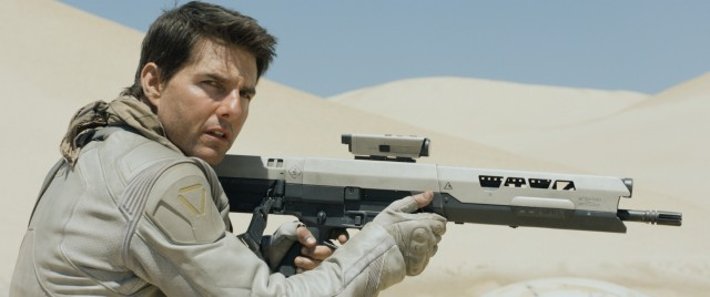 "The lack of a small cut across his nose indicates that this isn't the Tom Cruise you're rooting for in #91, ""Oblivion."""