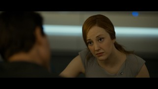 Vika (Andrea Riseborough), Jack's partner in more ways than one, treats his wounds in this deleted scene.