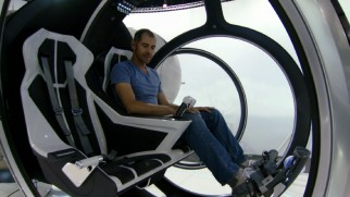 "Daniel Simon happily shows us around the Bubbleship he designed for the film in the making-of featurette ""Voyage."""