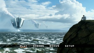 "Both Blu-ray and DVD treat ""Oblivion"" to a basic but fitting main menu montage."