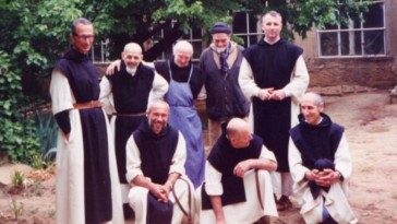 """Further Investigation"" shows the real Tibehirine monks appear in a photograph that was recreated by the movie's cast."