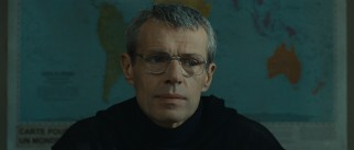 The pensive Christian (Lambert Wilson) tries to be democratic in his leadership of the Atlas Mountain monks.
