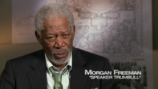 "Morgan Freeman is pleased to get presidential again as part of ""The Epic Ensemble."""