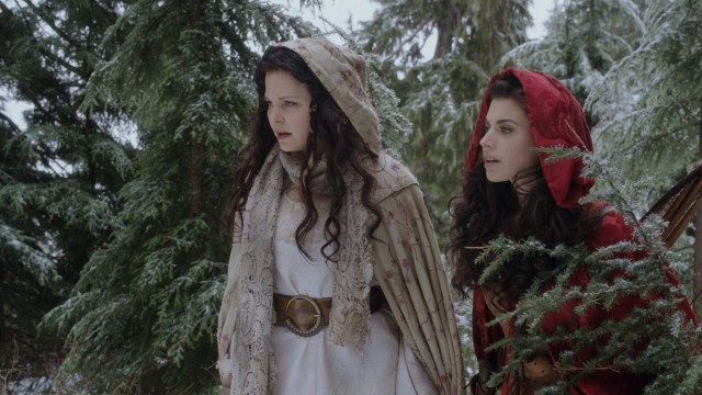 "Snow White (Ginnifer Goodwin) and Red Riding Hood (Megan Ory) team up to solve the mystery of the big bad wolf in ""Red-Handed."""