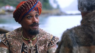 "Giancarlo Esposito stars in ""The Sidney Glass Story: From Genie of Agrabah to the Magic Mirror in 43 Minutes."""
