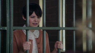 "Baffling murder charges put wholesome schoolteacher Mary Margaret Blanchard (Ginnifer Goodwin) behind bars in ""Heart of Darkness."""