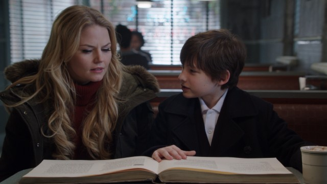 Emma (Jennifer Morrison) and Henry (Jared S. Gilmore) discuss the spell they assign the codename Operation Cobra.