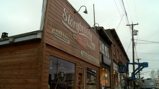 The storefront makeover of Steveston, British Columbia into Storybrooke, Maine is profiled.