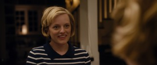 Sophie (Elisabeth Moss) gets some attitude from the alternate version of herself whose pinned-back hair she earlier complimented.