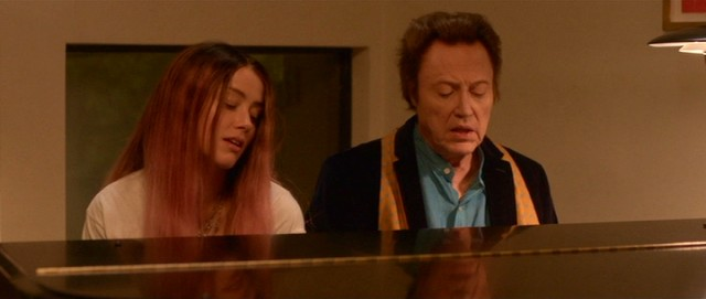 "Jude (Amber Heard) and Paul (Christopher Walken) sing a father-daughter duet just like Frank and Nancy Sinatra in ""One More Time."""