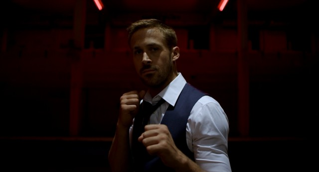 "Julian (Ryan Gosling) seems a tad overdressed for a fistfight in ""Only God Forgives."""