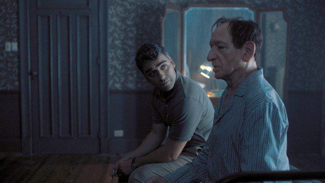 "In ""Operation Finale"", Peter Malkin (Oscar Isaac) tries to persuade captured Nazi war criminal Adolf Eichmann (Ben Kingsley) to sign the document that will allow him to stand trial in 1960s Israel."