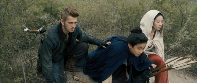 "A guilt-ridden warrior (Hayden Christensen) protects a princess (Liu Yifei) and prince (Bill Su Jiahang) on the run in the American-Chinese-Canadian action film ""Outcast."""